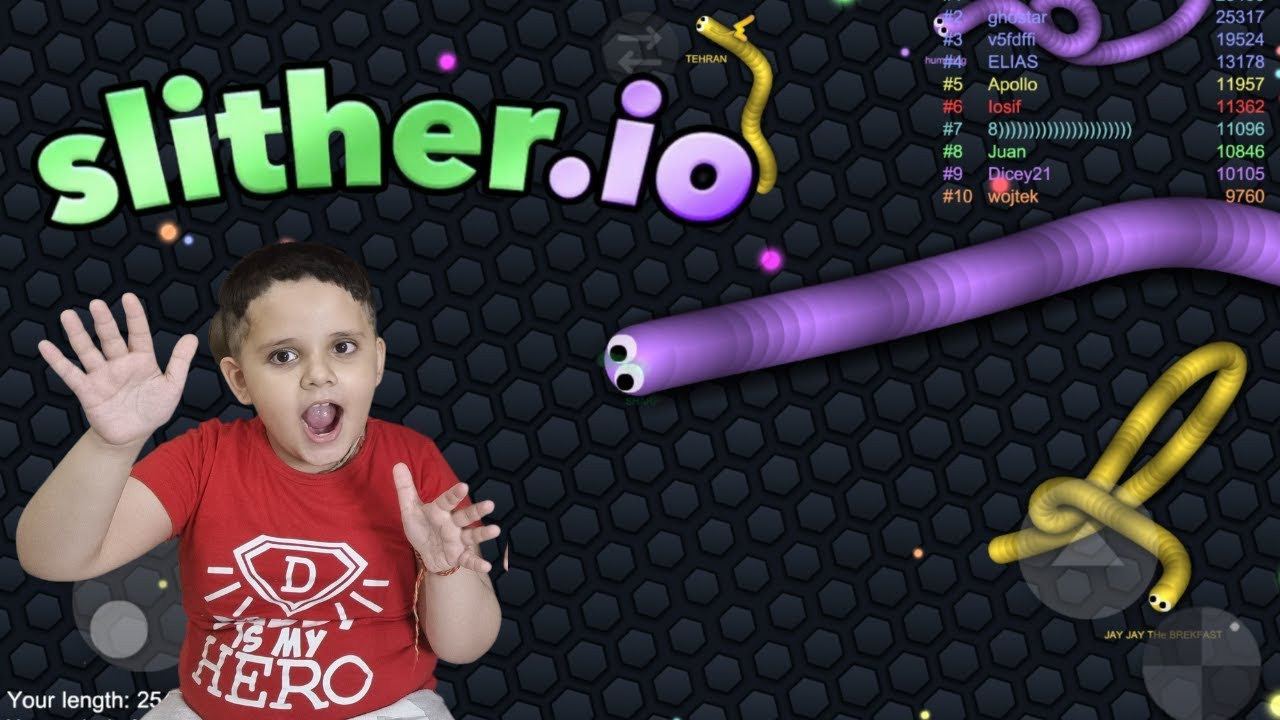Download Playing Slither.io Game!!! Old snake game by Lil Kiddo Gamer