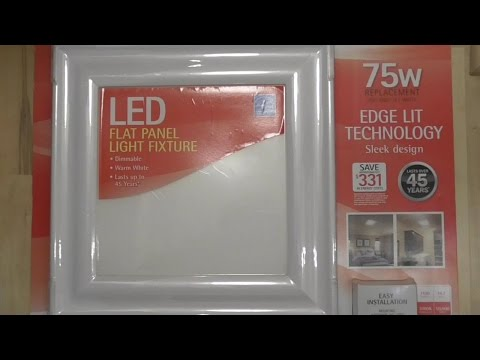 Feit FLAT PANEL LED Light Fixture DETAILED Install and Review COSTCO #944464