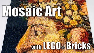 Mosaic Art with LEGO Bricks - Speed Build