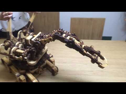 Wooden Gears Toy Robot