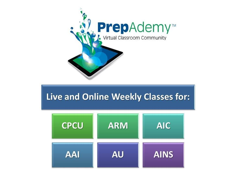 PrepAdemy Online Classes For CPCU ARM AIC AINS AU And AAI