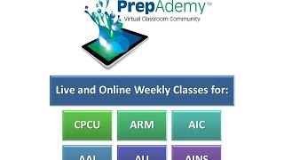 PrepAdemy Online Classes for CPCU, ARM, AIC, AINS, AU and AAI
