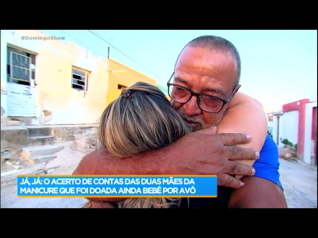 Após 30 anos, Fabiana conhece o pai biológico