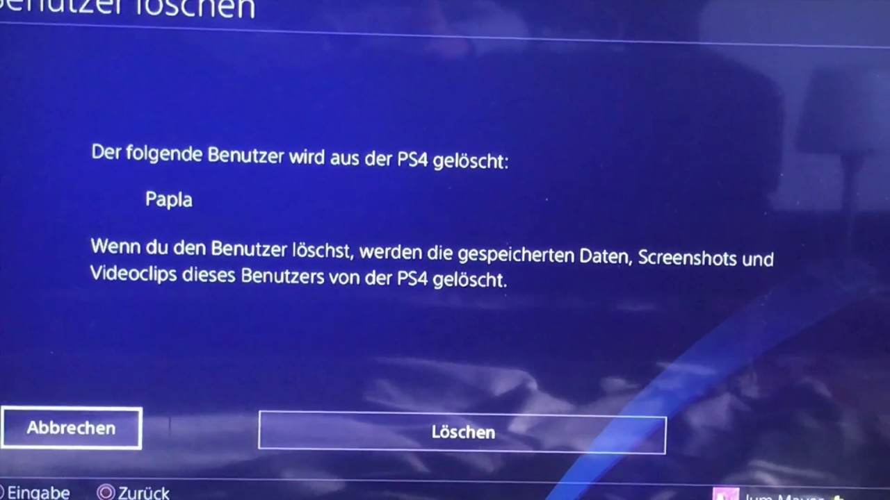 Wie lösche ich einen Benutzer auf der PS4? - YouTube