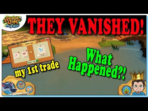 MY FIRST PLAY WILD TRADE + VANISHING JAMMERS ❓ANIMAL JAM