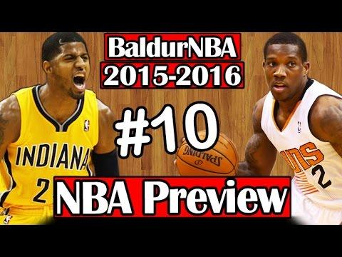BaldurNBA 2015-16 NBA Preview   #10 - Pacers & Suns