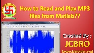 How to read and play MP3 sound using Matlab