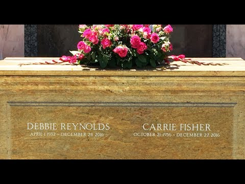 Famous Grave Tour Carrie Fisher And Debbie Reynolds At Forest Lawn Hollywood Hills Youtube
