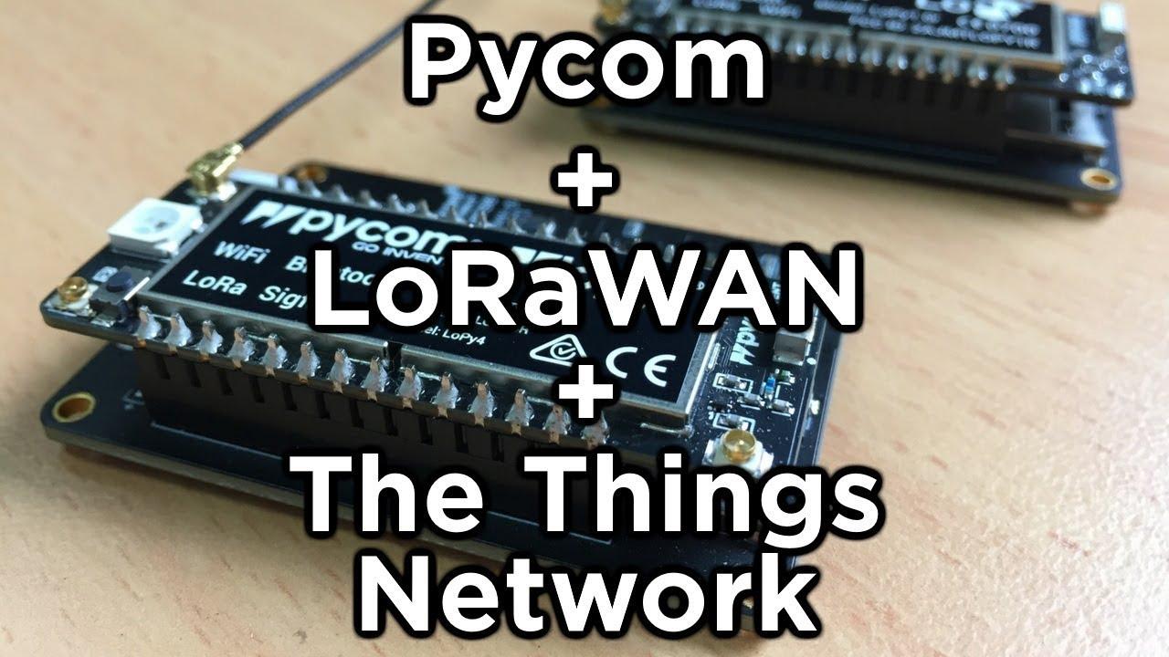 Pycom LoPy4 Nano Gateway for LoRaWAN
