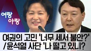 [여랑야랑]여권의 고민 '너무 세서 불안?' / 윤석열 사단 '나 떨고 있니?'   뉴스A