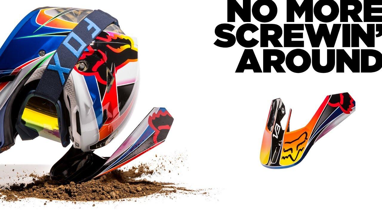Dirt Bike Helmet With Visor >> Fox MX | MVRS V3 Helmet - YouTube