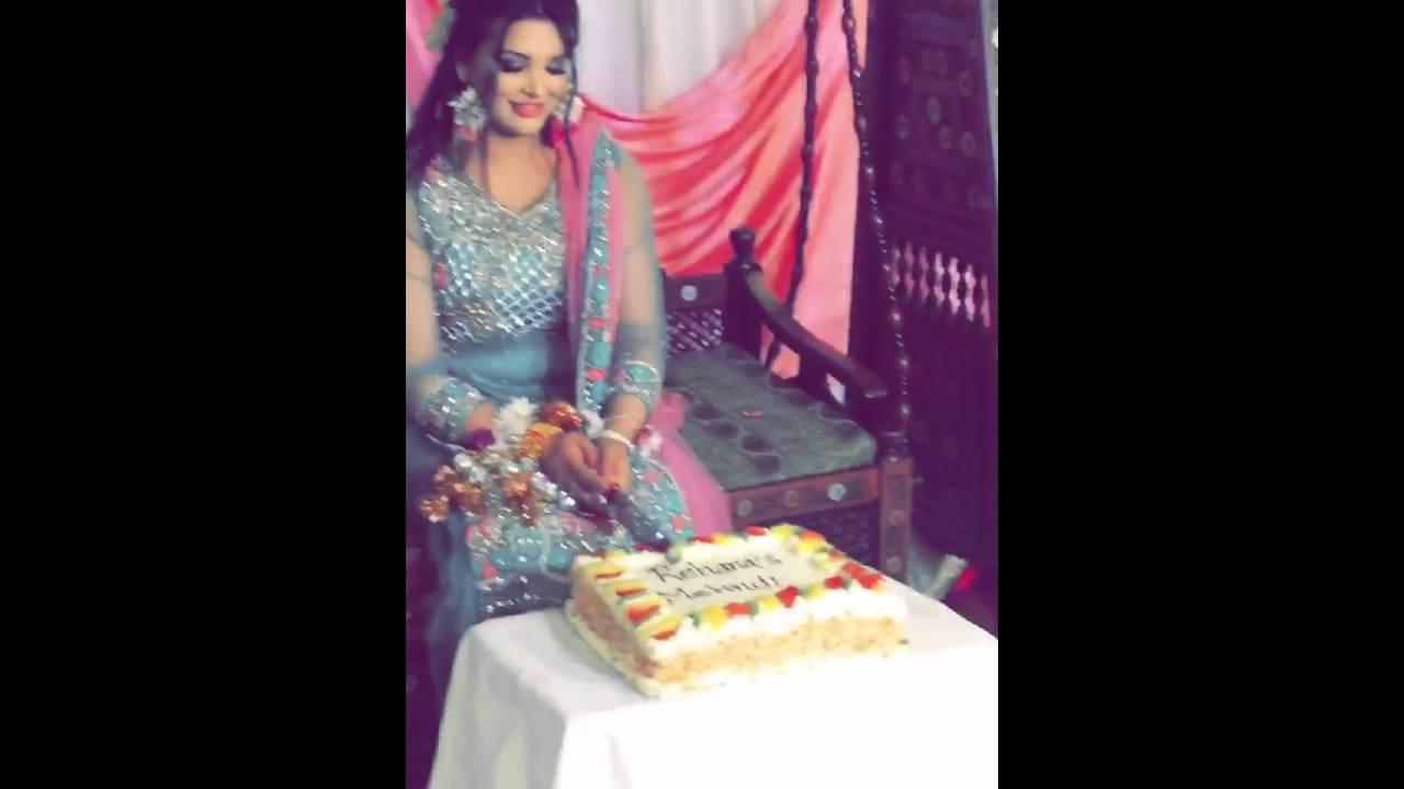 Cake For Mehndi Ceremony : My sister indian mehndi cut cake youtube