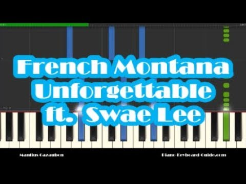French Montana - Unforgettable ft. Swae Lee Piano Tutorial - How To ...