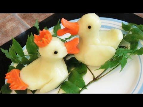 How To Make Potato Rubber Ducks Potato Art Vegetable