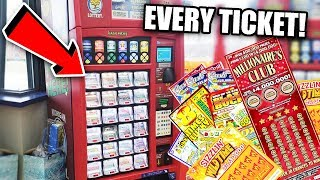WE BOUGHT EVERY TICKET IN THE LOTTERY MACHINE! || $4MILL TOP PRIZE!