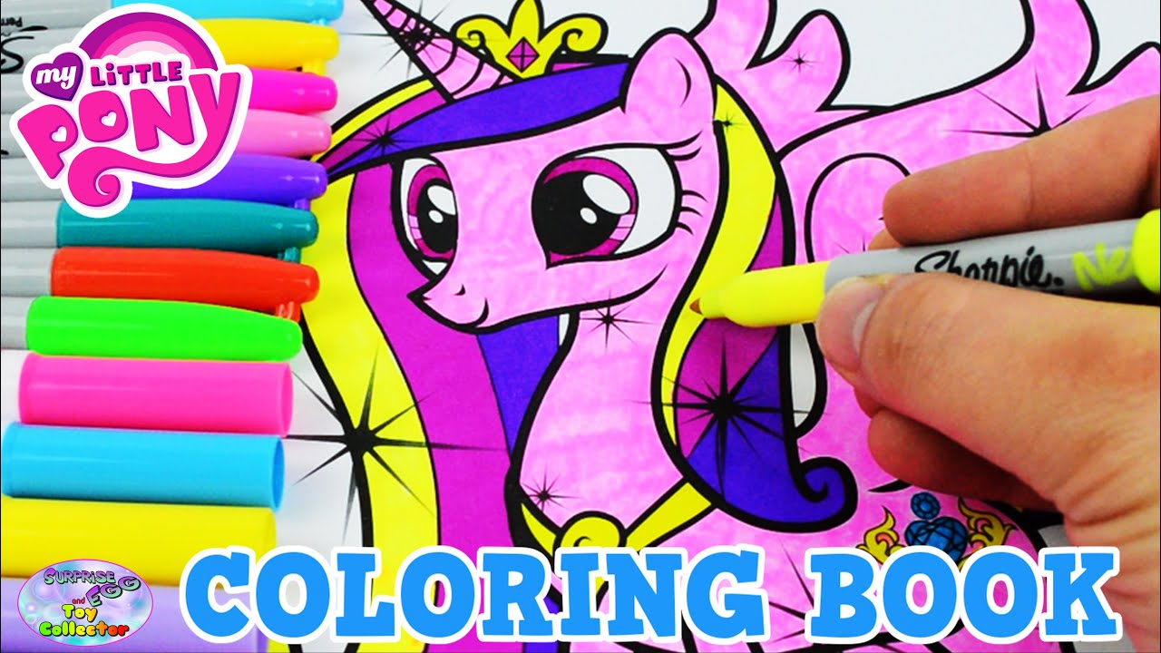 my little pony coloring book mlp princess cadance colors episode surprise egg and toy collector setc youtube - Mlp Coloring Book