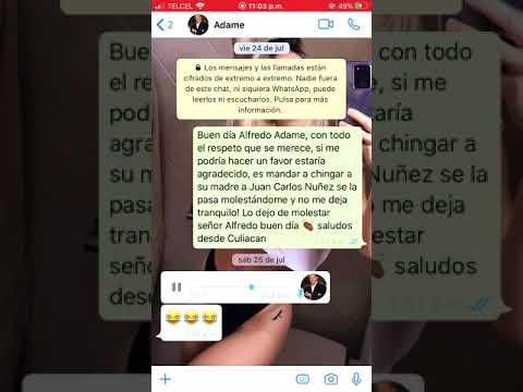 Alfredo Adame manda audios a whatsapp bajo petición