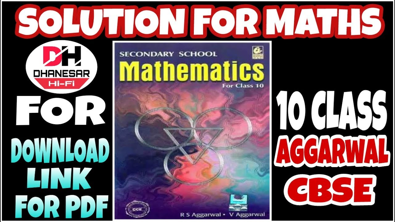 10 class maths r s aggarwal all chapters solution youtube