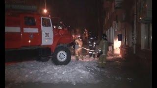 Пожар в офисе Сбербанка