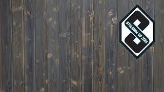 Dekoracyjna rustykalna ściana z drewna