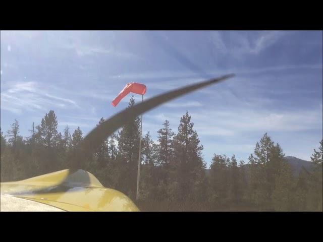 Deadwood Idaho reservoir landing and takeoff 10/09/17