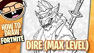 How to Draw MAX LEVEL DIRE (Fortnite: Battle Royale) | Narrated Easy Step-by-Step Tutorial