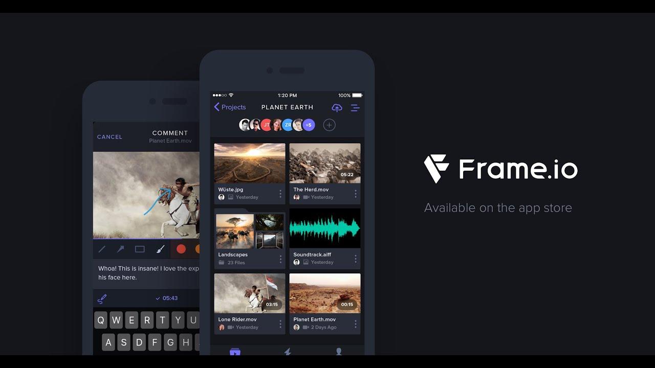 Frame.io iOS App First look - YouTube