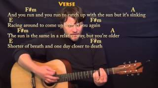 Time (Pink Floyd) Strum Guitar Cover Lesson with Chords/Lyrics