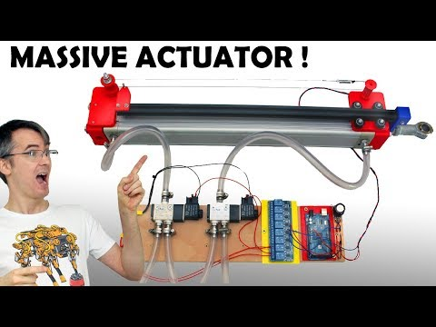 Experiments with Position Control of Pneumatic Actuators | James Bruton