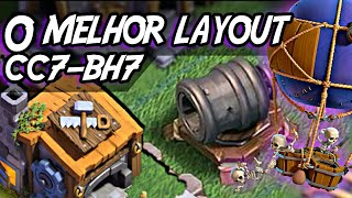 LAYOUT CC7/BH7 O MELHOR!! (4000+) / BASE DO CONSTRUTOR / CLASH OF CLANS