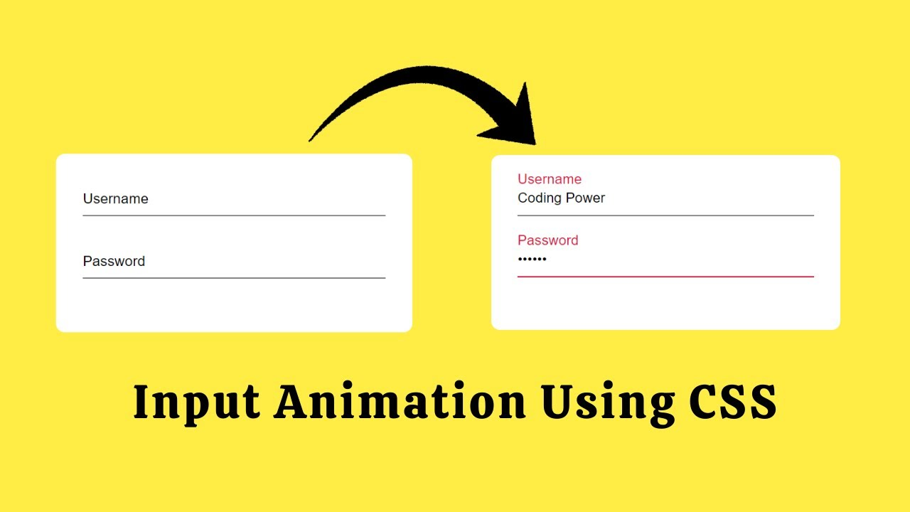 Awesome Input Animation using HTML & CSS | Input Animations With HTML And CSS