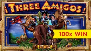 Three Amigos Slot - BIG WIN, GREAT BONUS!