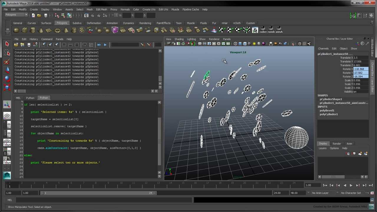 Introduction to Python Scripting in Maya - Part 2: Working with Selections  and Constraints