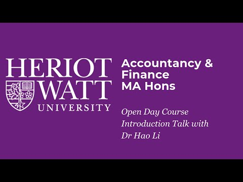 Accountancy and Finance at Heriot-Watt University