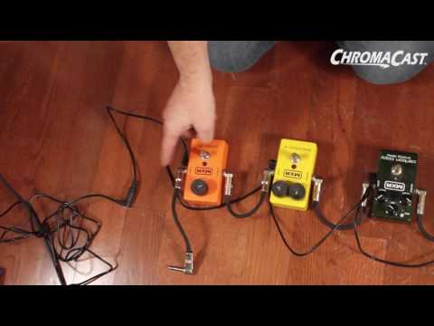 ChromaCast 5 Plug Daisy Chain Cable & 9-Volt AC Power Adapter for Guitar Pedals Demo