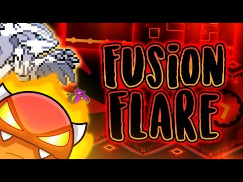 MY BEST LEVEL! Fusion Flare (Easy Demon, 3 Coins) - Skitten (me) | Geometry Dash [2.11]