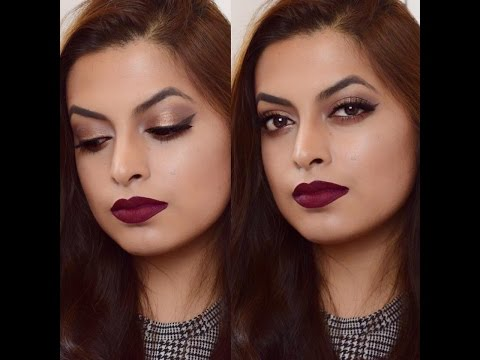 Wine Red | Gold | Makeup Tutorial