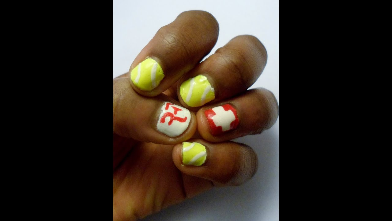Tennis roger federer nail art tutorial youtube tennis roger federer nail art tutorial prinsesfo Image collections