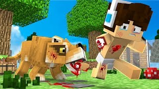 Minecraft: WHO'S YOUR DADDY?! - LEÃO ATACOU O BEBÊ!!!! (Baby At The Zoo)