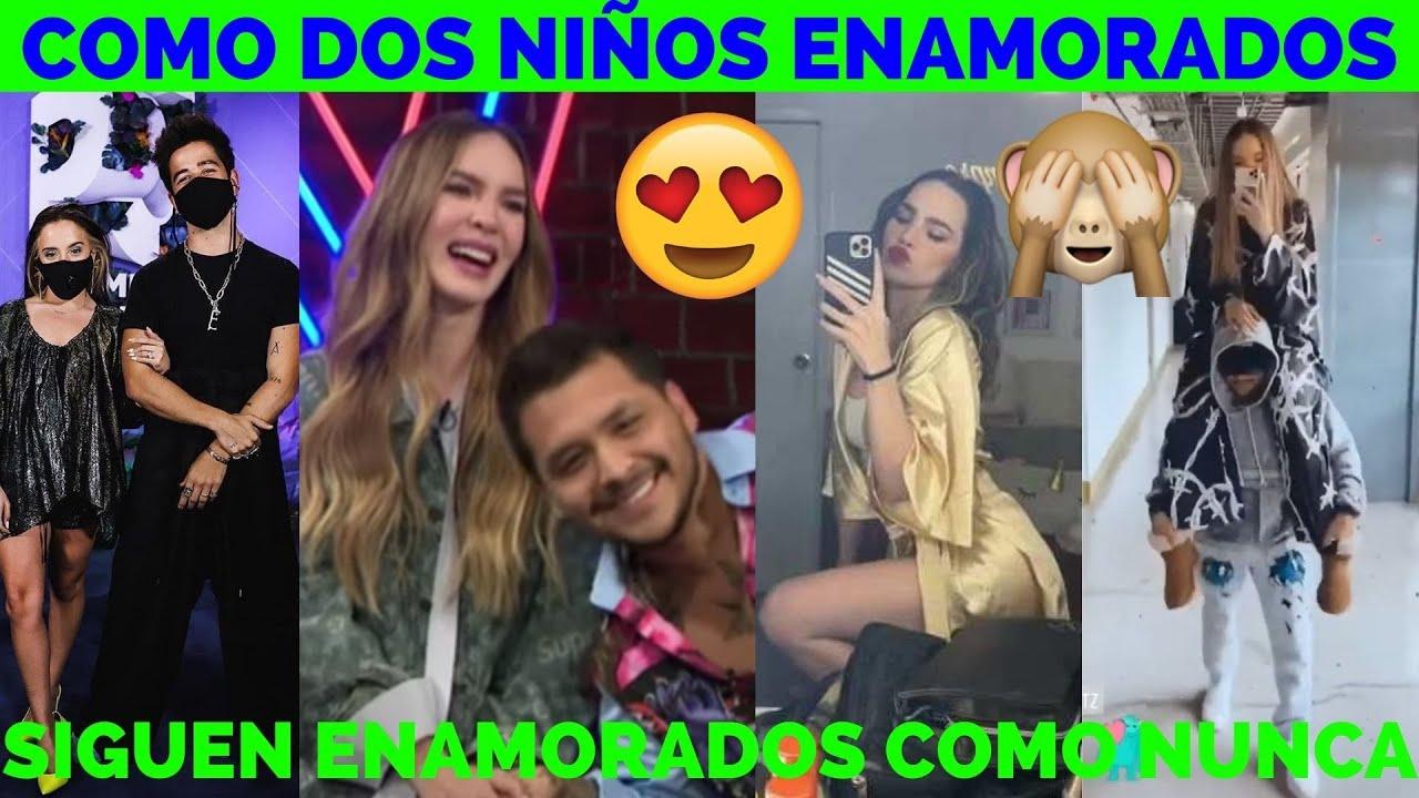 Belinda y Christian Nodal Juegan En Camerinos De La Voz: Mientras Otros Trabajan En Premios Juventud