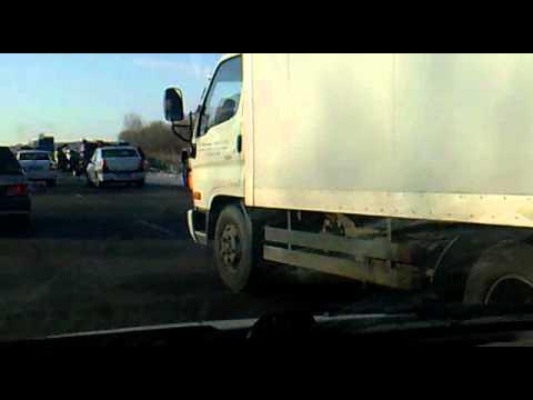 Жесткая авария в Челябинске, Копейске !!! 03.12.2011
