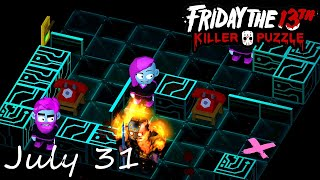 Friday the 13th Killer Puzzle Daily Death July 31 2020 Walkthrough