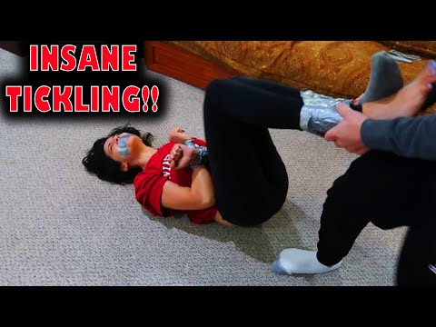 INSANE DUCT TAPE TICKLE PRANK on MY GIRLFRIEND!!