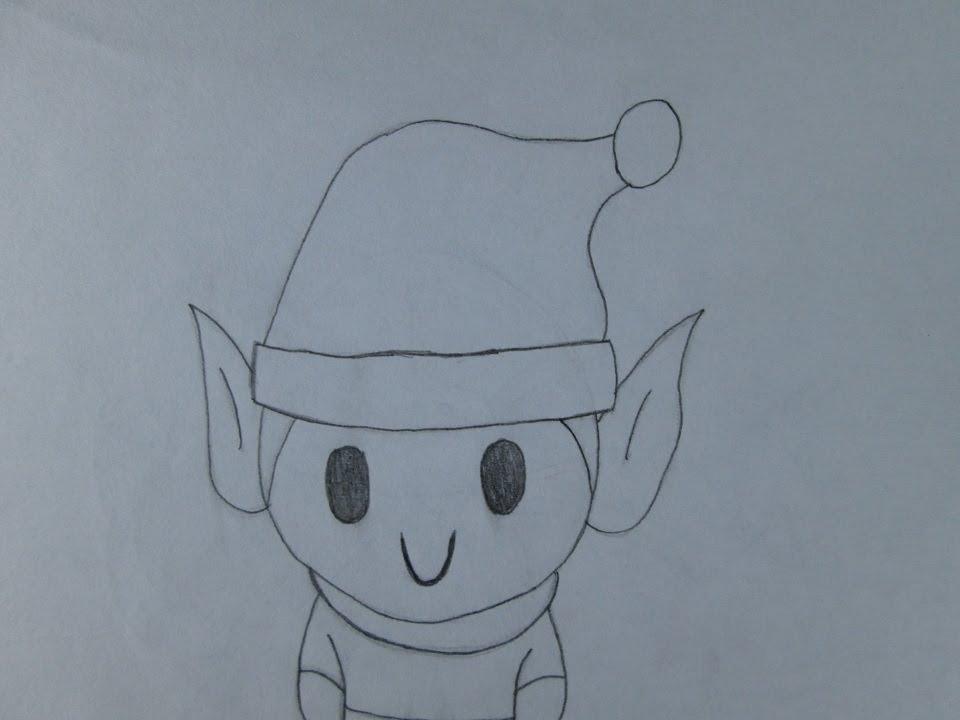 C mo dibujar un elfo de navidad youtube for Dibujos sencillos de navidad