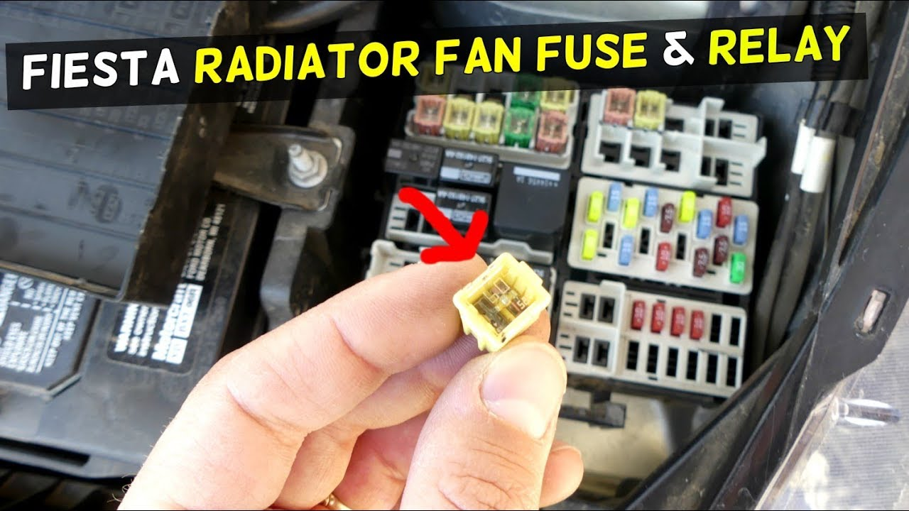 FORD FIESTA RADIATOR FAN FUSE AND RELAY LOCATION MK7 ST - YouTube on fan control circuit, fan car circuit, relay circuit,