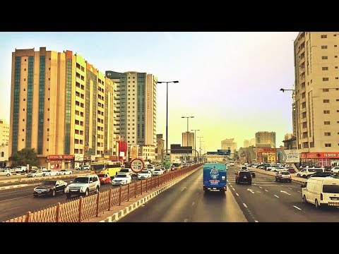 Dubai to Ajman by Bus || Scenes of the UAE