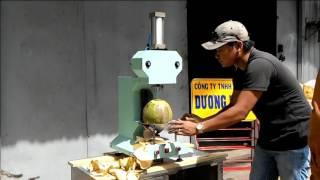 Coconut peeling machine - Coconut cutting machine