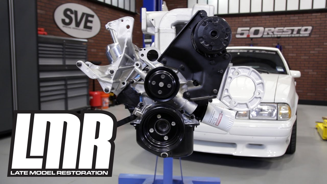 hight resolution of fox body mustang engine accessory bracket kit w hardware 85 93