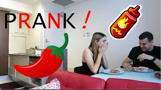 EXTREME HOT SAUCE PRANK on GIRLFRIEND!