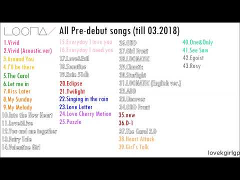 All Loona Pre-debut Songs (till 03 2018)